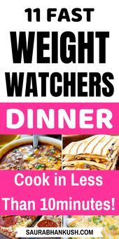 Weight Watchers dinner recipes with dots – 11 WW SmartPoints freestyle dinner ideas