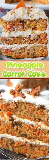 CARROT CAKE WITH PINEAPPLE AND COCONUT? YES! Car …
