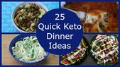 25 quick ideas for Keto dinner: easy low-carb meals in less than 30 minutes