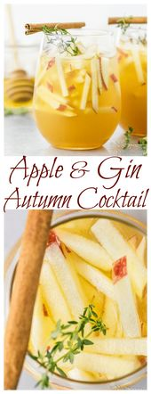 Apple and Gin Autumn Cocktail [with recipe video]