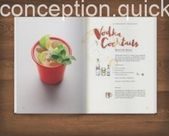 Artistic type – Design of cocktail recipe book for Dre Masso. The…