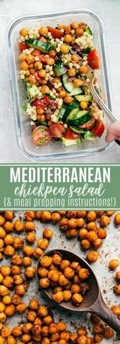 Chickpea Salad {Mediterranean inspired} | Messy Chelsea Apron