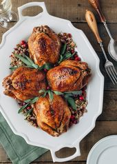 Cornish Hens with Rice Filler with Apple and Cranberry