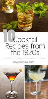 Drink recipes from the twenties | LoveToKnow