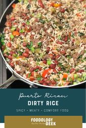 Easy Puerto Rican rice and beans.