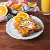 Egg toast with cheese