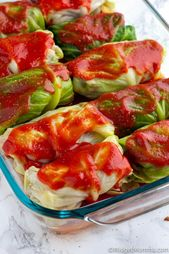 Keto Cabbage rolls are a low carb cabbage rolls re …