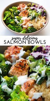 Mediterranean Salmon Bowl – Beauty Snacks