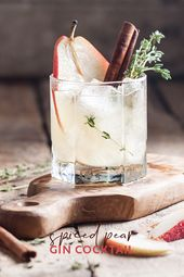 Pear cocktail with spices and gin | Craft Gin Club