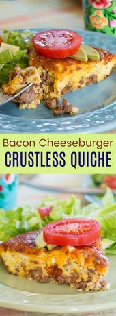 Quiche without crust with cheese and bacon burger – Cupcakes and Kale Chips