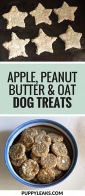 Quick and easy treats for apple, peanut butter and oatmeal dogs