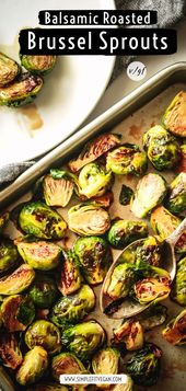 Roasted Brussels sprouts with balsamic maple – SimpleFitVegan