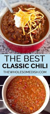 The best classic chili: the healthy dish