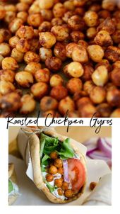 Vegetarian roasted chickpea gyros (less than 30 minutes!)